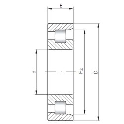 180 mm x 320 mm x 112 mm  Loyal NF3236 cylindrical roller bearings