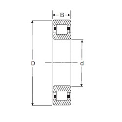 40 mm x 90 mm x 33 mm  SIGMA NUP 2308 cylindrical roller bearings