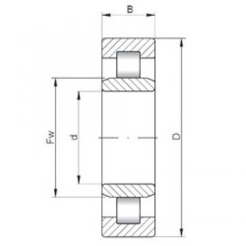 260 mm x 400 mm x 104 mm  ISO NU3052 cylindrical roller bearings