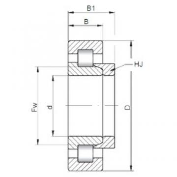 40 mm x 90 mm x 33 mm  ISO NH2308 cylindrical roller bearings