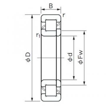 40 mm x 90 mm x 33 mm  NACHI NUP 2308 E cylindrical roller bearings