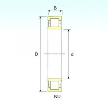 40 mm x 90 mm x 33 mm  ISB NU 2308 cylindrical roller bearings