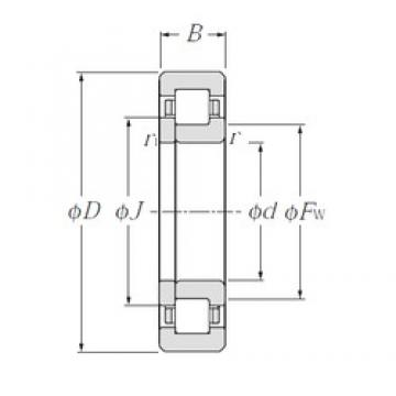 40 mm x 90 mm x 33 mm  NTN NUP2308E cylindrical roller bearings
