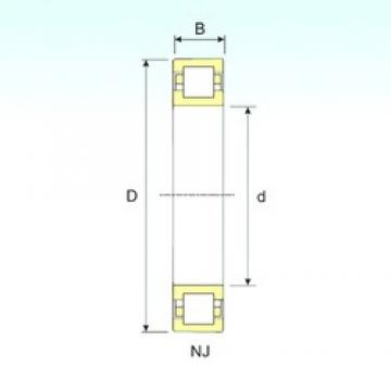40 mm x 90 mm x 33 mm  ISB NUP 2308 cylindrical roller bearings