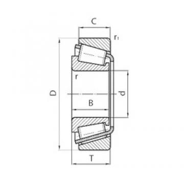 25 mm x 47 mm x 15 mm  NSK 25KW01 tapered roller bearings